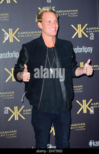 London UK 14th Nov 2013 : Jamie Laing attends the launch party for the Kardashian Kollection for Lipsy at Natural - Stock Image