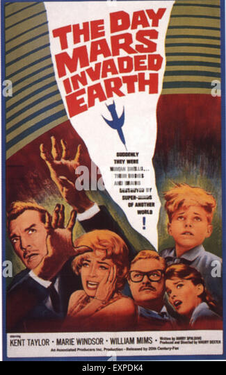 1960s USA The Day Mars Invaded Earth Film Poster - Stock Image
