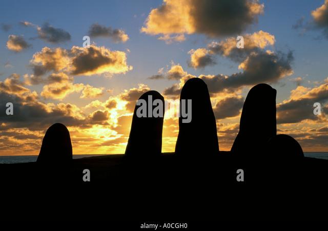 Uruguay Punte del Este Fingers - Stock Image