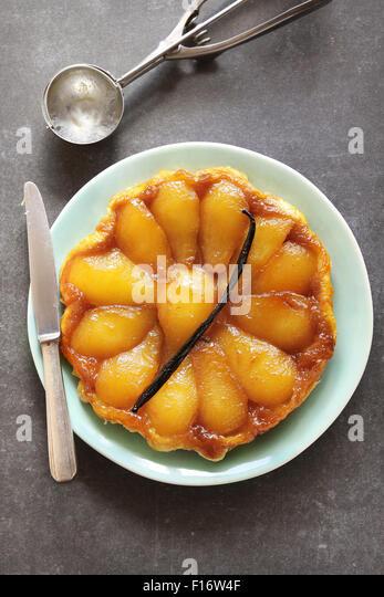 Pear tarte tatin - Stock Image