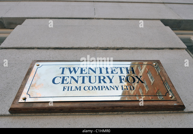 Twentieth Century Fox Film Company Ltd London Office 20th Century Fox - Stock Image