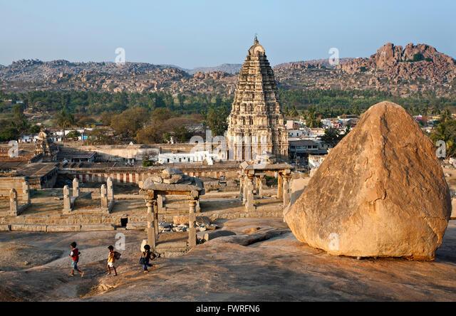 Virupaksha temple. Karnataka. India - Stock Image