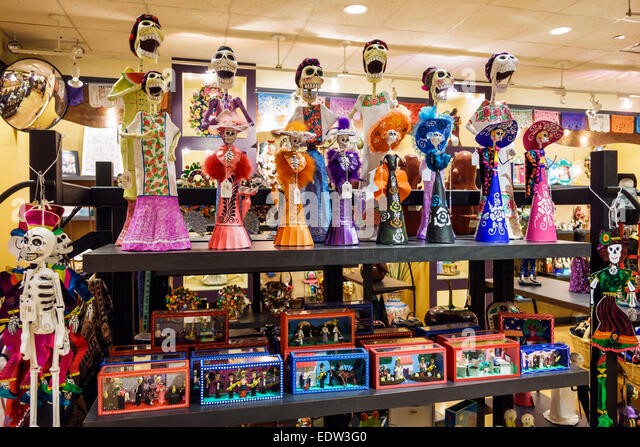 Chicago Illinois Lower West Side Pilsen National Museum of Mexican Art Hispanic Chicano shopping gift store sale - Stock Image
