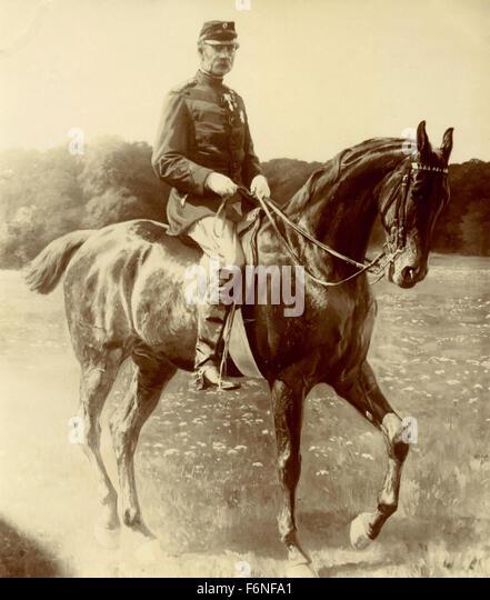 Cavalry officer, Denmark - Stock Image