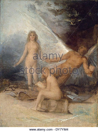 Francisco de Goya Time, Truth and History - Stock Image