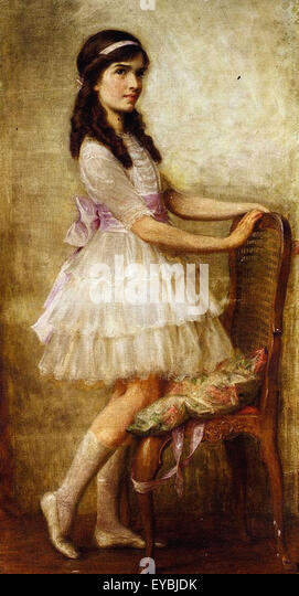 Herbert James Draper  Portrait of Miss Barbara de Selincourt - Stock Image