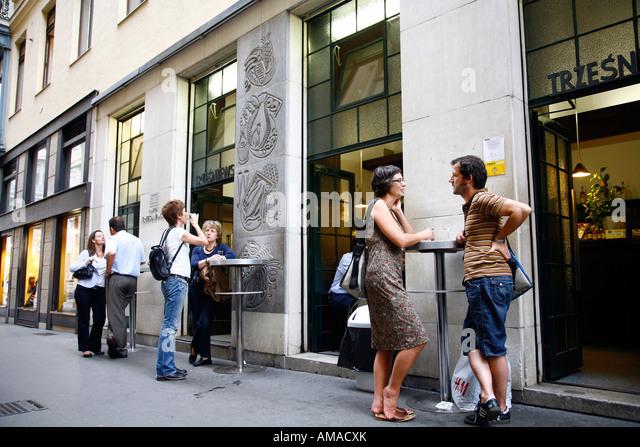 Aug 2008 - Cafe Tresniewski Vienna Austria - Stock Image