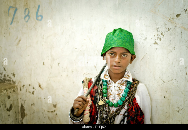 Sufi fakir(Muslim holy man)  Ajmer ,India - Stock-Bilder