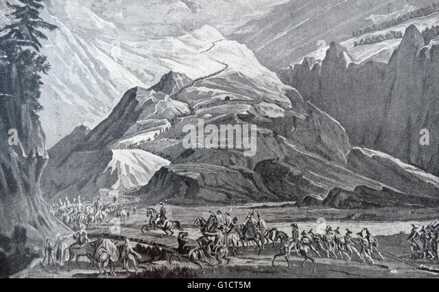 Painting titled 'The Place of Mountains in History: Nature's Barriers to Mau's Expansion - Stock Image