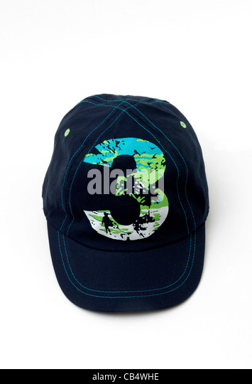 A Child's Blue Baseball Cap - Stock Image