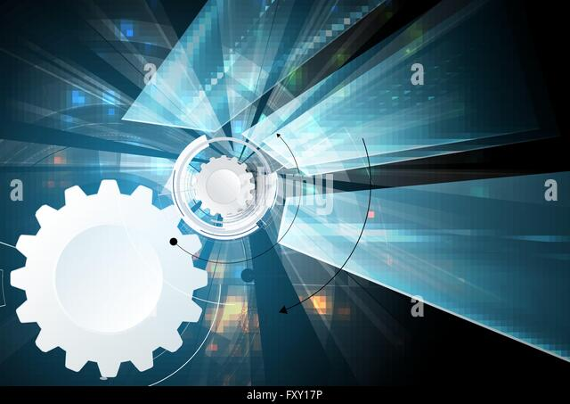 Scientific Future Technology. For Business Presentation. Flyer, Poster Vector Concept Background - Stock-Bilder