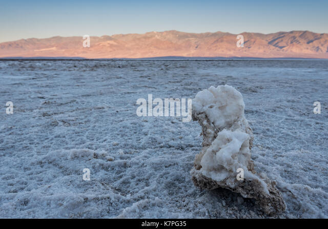 Chunk of Salt on Salt Flats in Death Valley - Stock Image