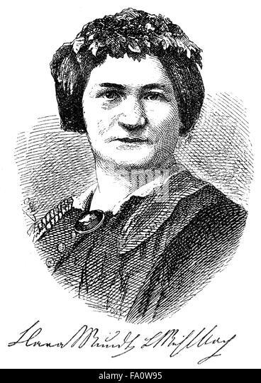 Klara Luise Mundt, 1814-1873, a German writer, - Stock-Bilder