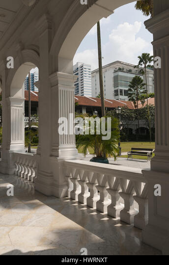 Singapore, Raffles Hotel - Stock Image