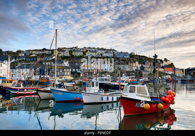 Mevagissey waterfront. - Stock Image