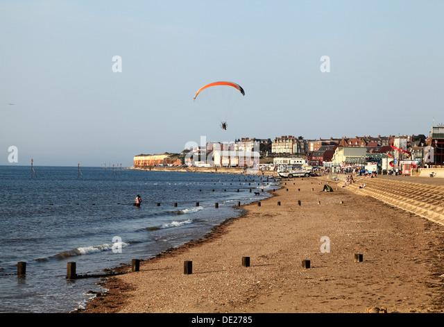 English Seaside Resort Resorts Sandy Beaches Norfolk Stock ...