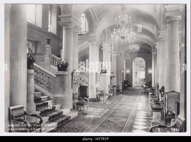 Villa d'Este & Lake Como, Cernobbio, Italy, Hall - Stock Image