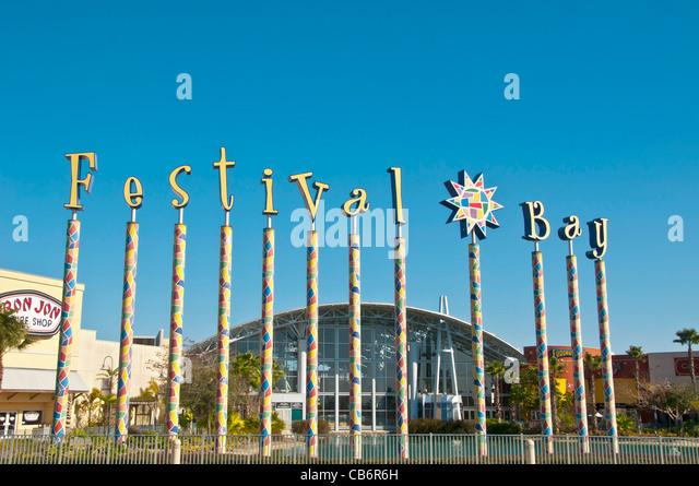 Orlando, Florida, Festival Bay Mall discount shopping mall on International Drive - Stock Image