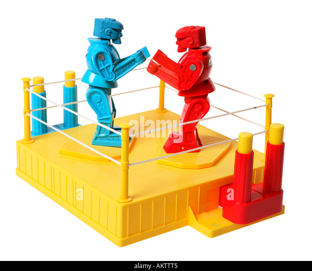 Robot Boxing Game - Stock Image