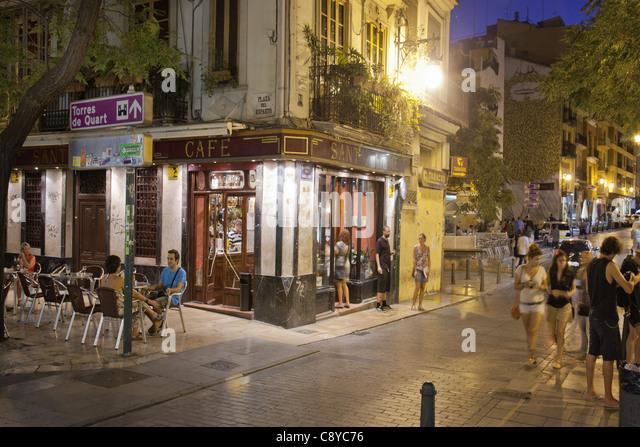 Sant Jaume Bar Cafe in El Carmen, Valencia, Spain - Stock-Bilder