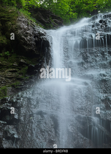 Beautiful waterfall Tiffany Falls. Hamilton Ontario Canada. - Stock Image