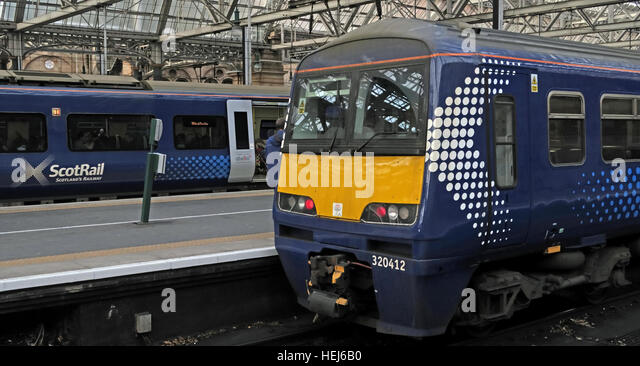 Scotrail Abellio train carriages,petition to bring back into state ownership,after poor service - Stock Image