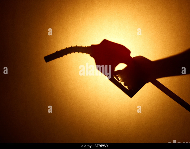 Gas Nozzle hand - Stock Image
