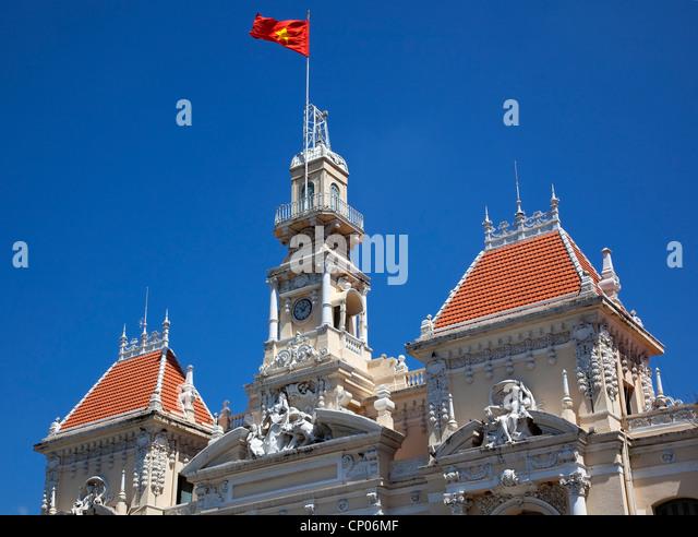 People's Committee Building Saigon Vietnam - Stock Image