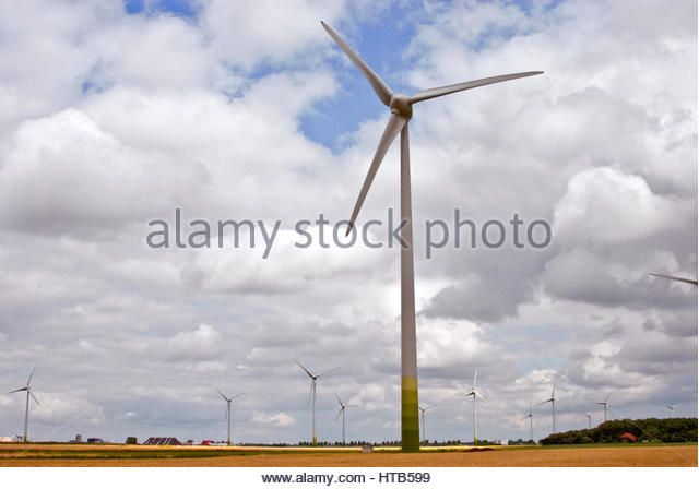 Green energy, windpower in Europe. - Stock Image