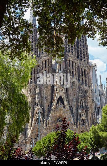 Sagrada Familia, UNESCO World Heritage Site, Barcelona, Catalonia, Spain, Europe - Stock Image
