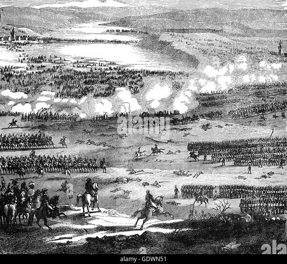 The Battle of Austerlitz (2 December 1805)  near the village of Austerlitz in the Austrian Empire, was one of the - Stock Image