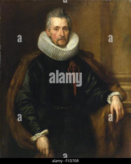 Anthony Van Dyck - Portrait of Ferdinand de Boischott (1571 1649), Baron Zaventem - Stock Image