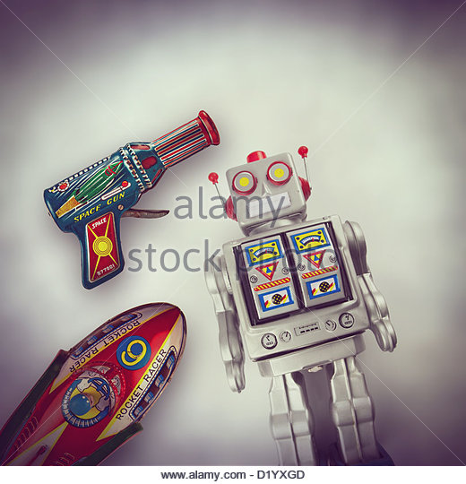 retro space toys - Stock Image