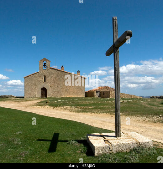 Sant Pere hermitage. Castellfort. Castelló. Comunitat Valenciana. Spain. - Stock Image