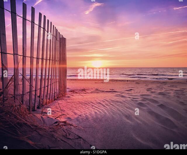 Perfect sunrise in ocean city Maryland iphone7+ - Stock-Bilder