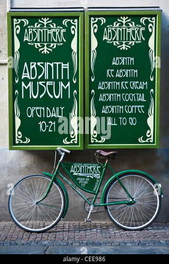 Absinth Museum in the Old town of Prague, Czech Republic - Stock Image