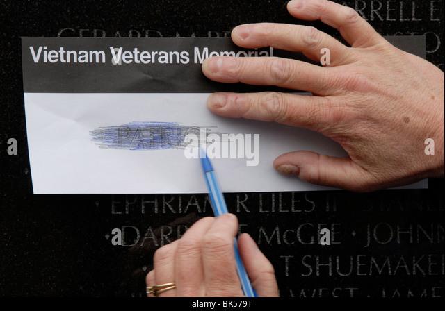 Vietnam Memorial, Washington D.C., United States of America, North America - Stock Image