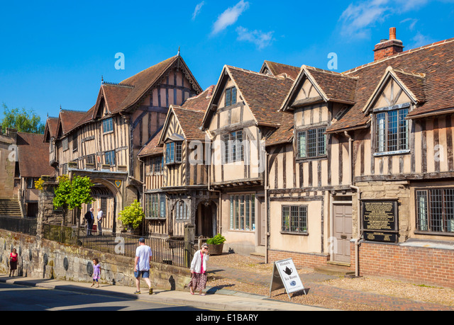 Lord Leycester hospital by the west gate Warwick Warwickshire England UK GB EU Europe - Stock Image