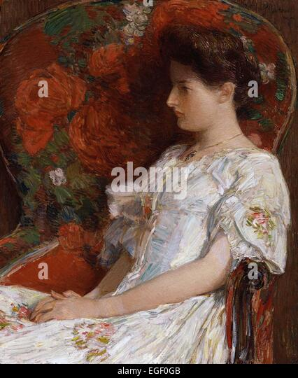 Childe Hassam  The Victorian Chair - Stock Image