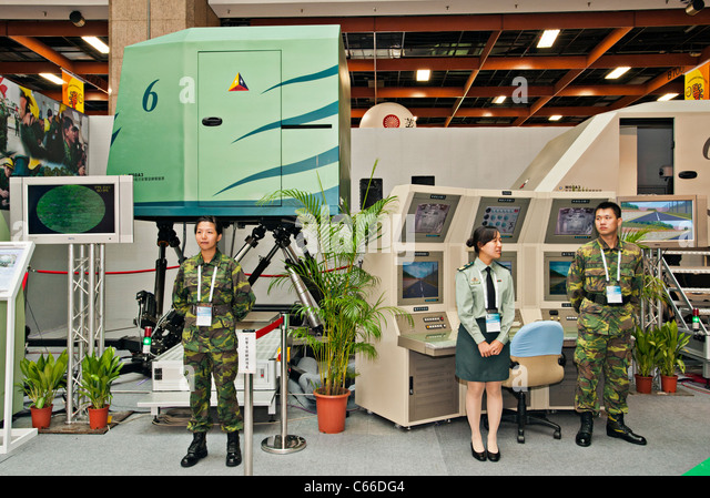 M60A3 Tank Gunnery Simulator, Taipei Aerospace Defense Technology Exhibition, 2011, Taiwan - Stock Image
