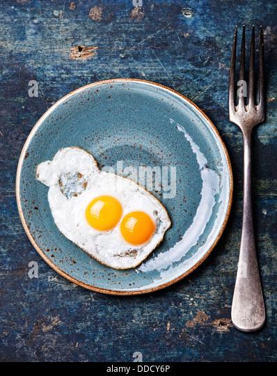 Traditional breakfast eggs - Stock Image