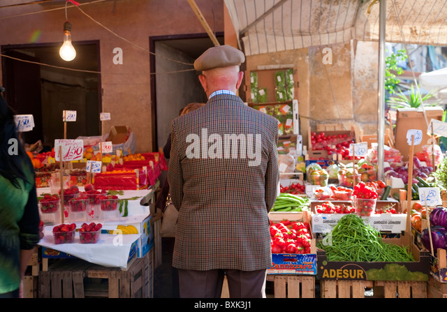 The Capo market in Palermo Sicily Italy - Stock Image