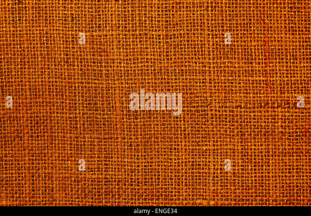 close up of a blank background, textile, canvas, rust colored,  brown, full frame, horizontal, directly above - Stock Image