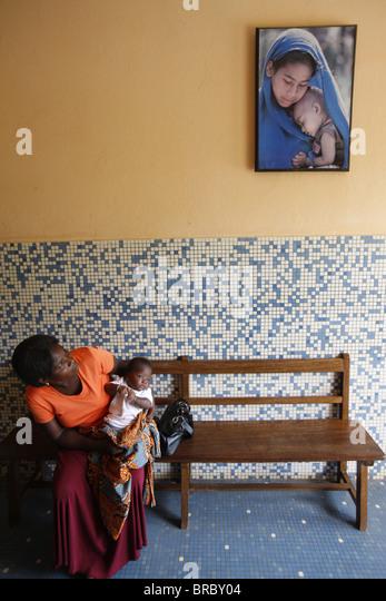 Kindergarten, Lome, Togo, West Africa - Stock Image