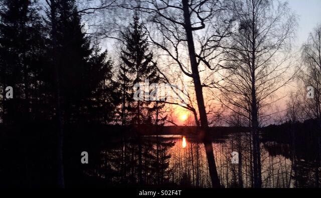 Sunset at the lake :) - Stock-Bilder