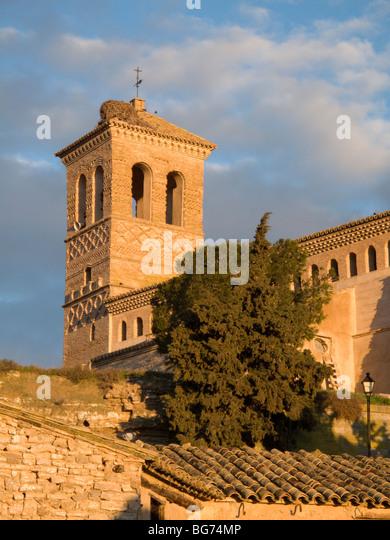 Church of Torralba de Aragon, Mudejar style - Stock Image