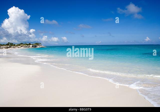 Beach, Turks & Caicos Islands. - Stock Image