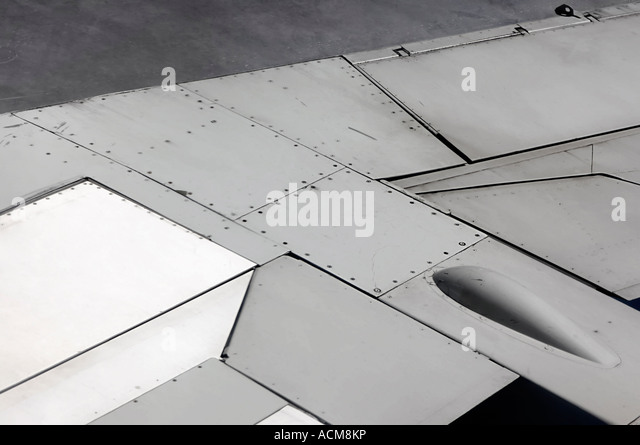 Airplane wing details - Stock Image