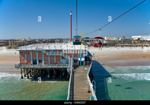 Daytona beach pier stock photos daytona beach pier stock for Ponce inlet fishing