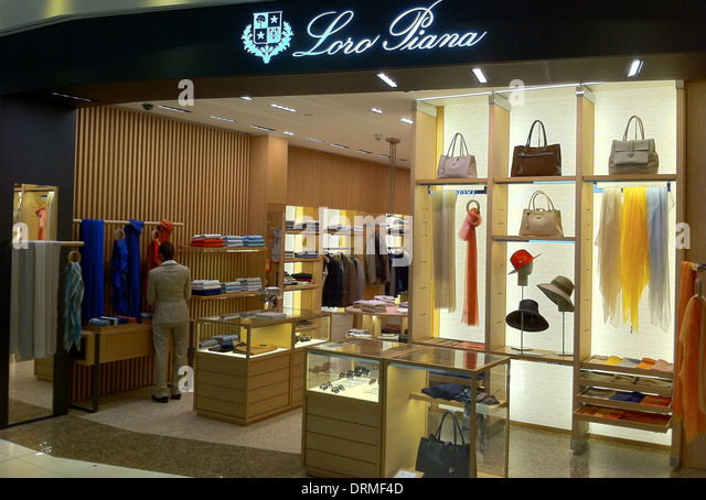 LORO PIANA store at Bangkok Airport, Thailand. Photo Tony Gale - Stock Image